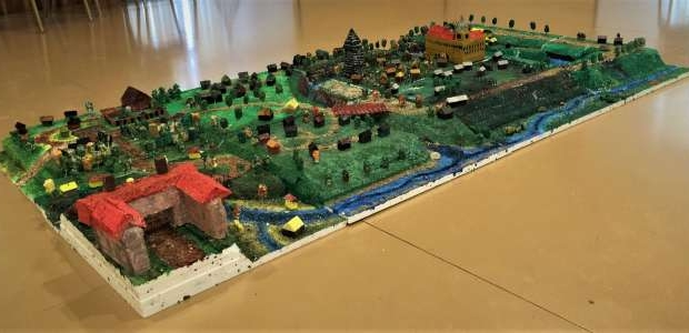 A model of the medieval Straupe town has been created